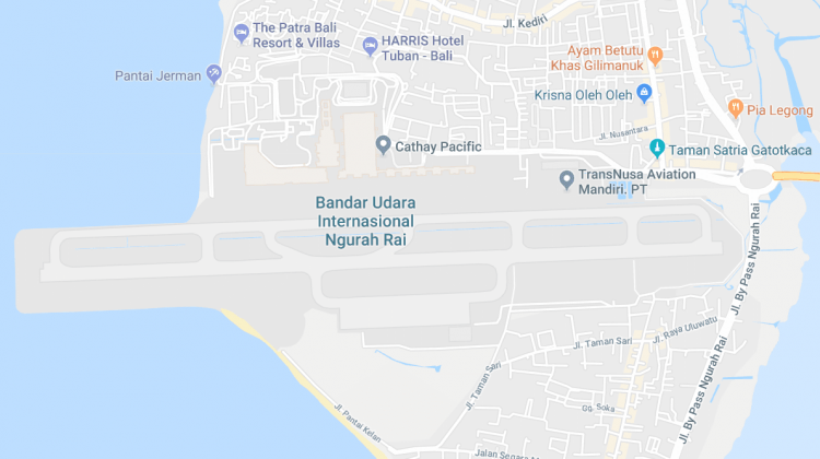 Bali Airport Map – Ngurah Rai International Airport